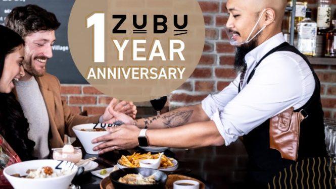 ZUBU one year anniversary